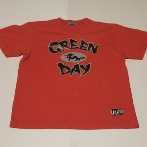 Y2K Green Day Chinese Dragon Band Tee